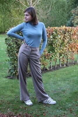 MilaSZ Rollneck Pullover Smoke Blue