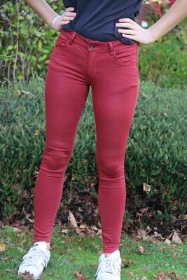 Roodkleurige jeans