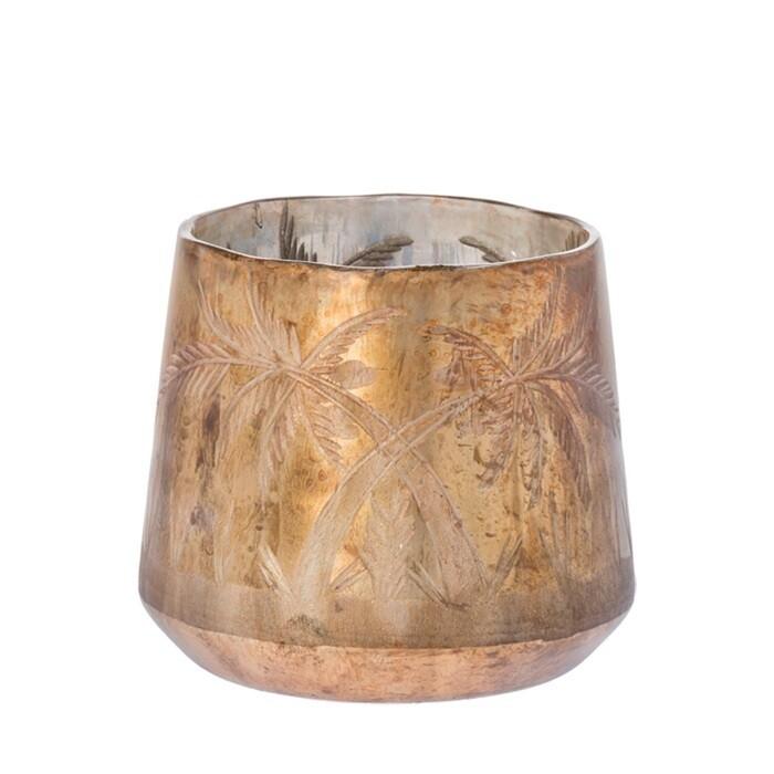 Tea light holder Isa bronze 14cm