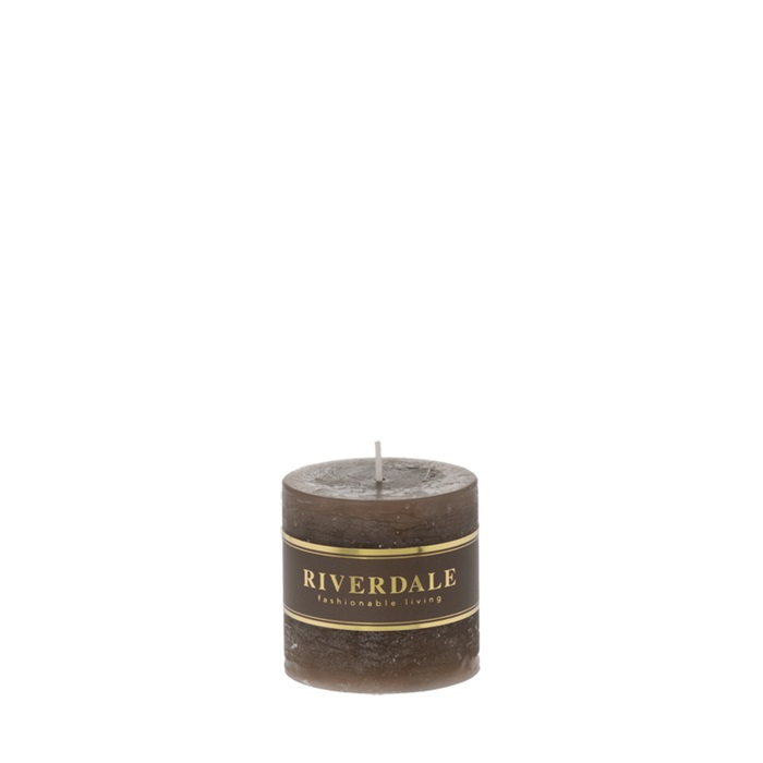 Candle Pillar mokka 7x7cm - no parfume