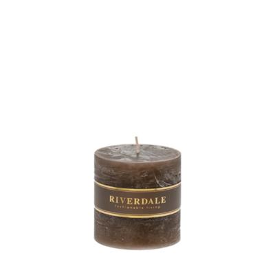 Candle Pillar mokka 9x9cm - no parfume