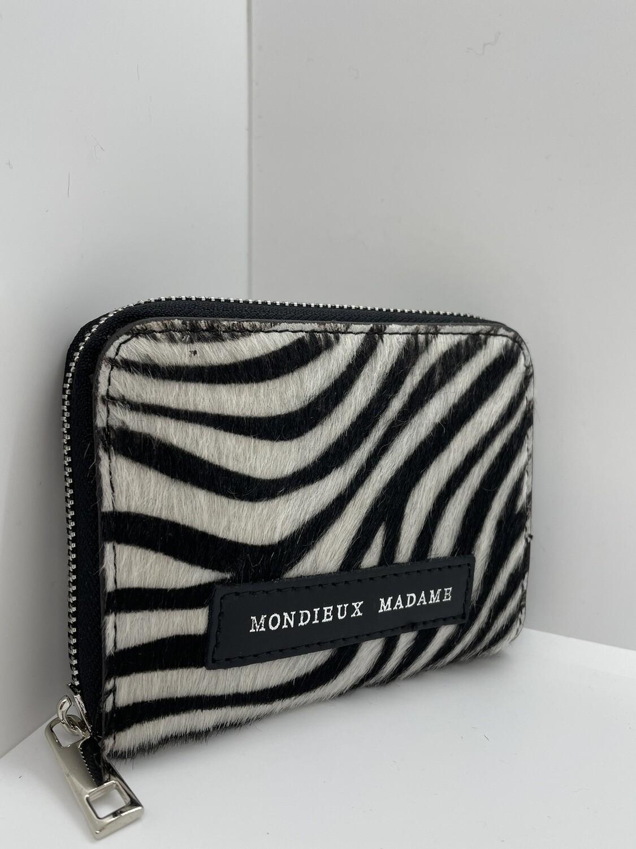 Lederen Portefeuille Zebra