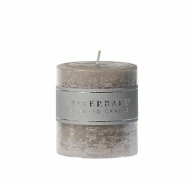 Scented candle Pillar grey 7,5x7,5cm