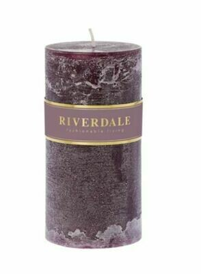 Scented candle Pillar dark burgundy 7,5x15cm