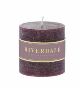 Scented candle Pillar dark burgundy 7,5x7,5cm