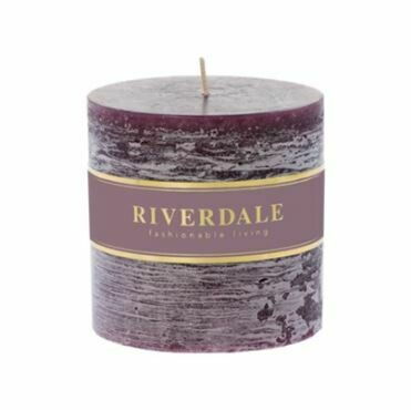 Scented candle Pillar dark burgundy 10x10cm