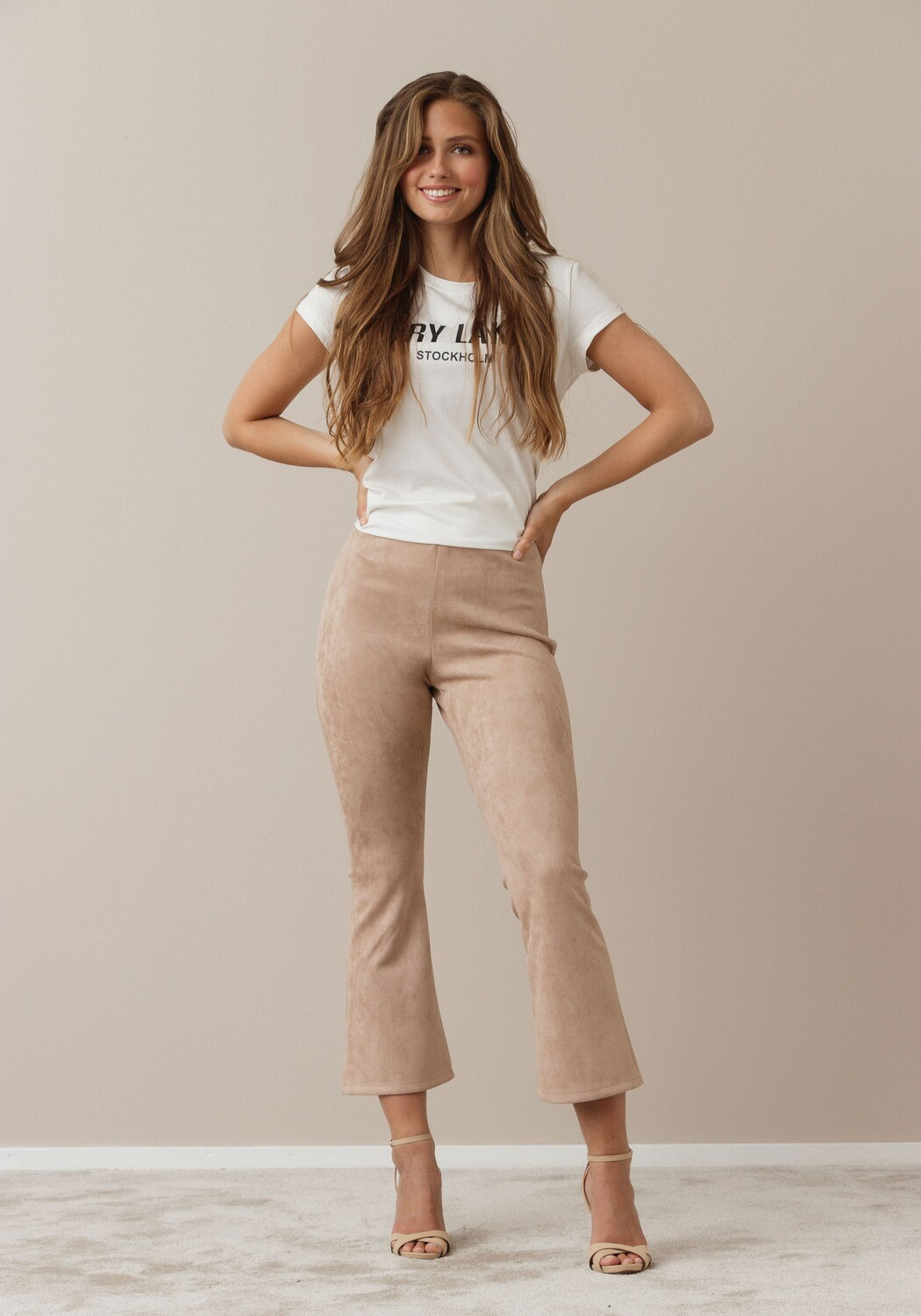 Flarry trousers suèdine