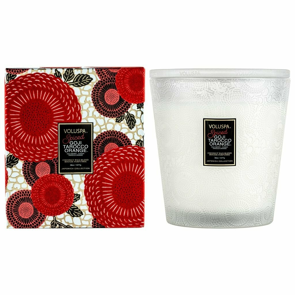 Boxed 3 Wick Hearth Candle with Lid 1077 gr