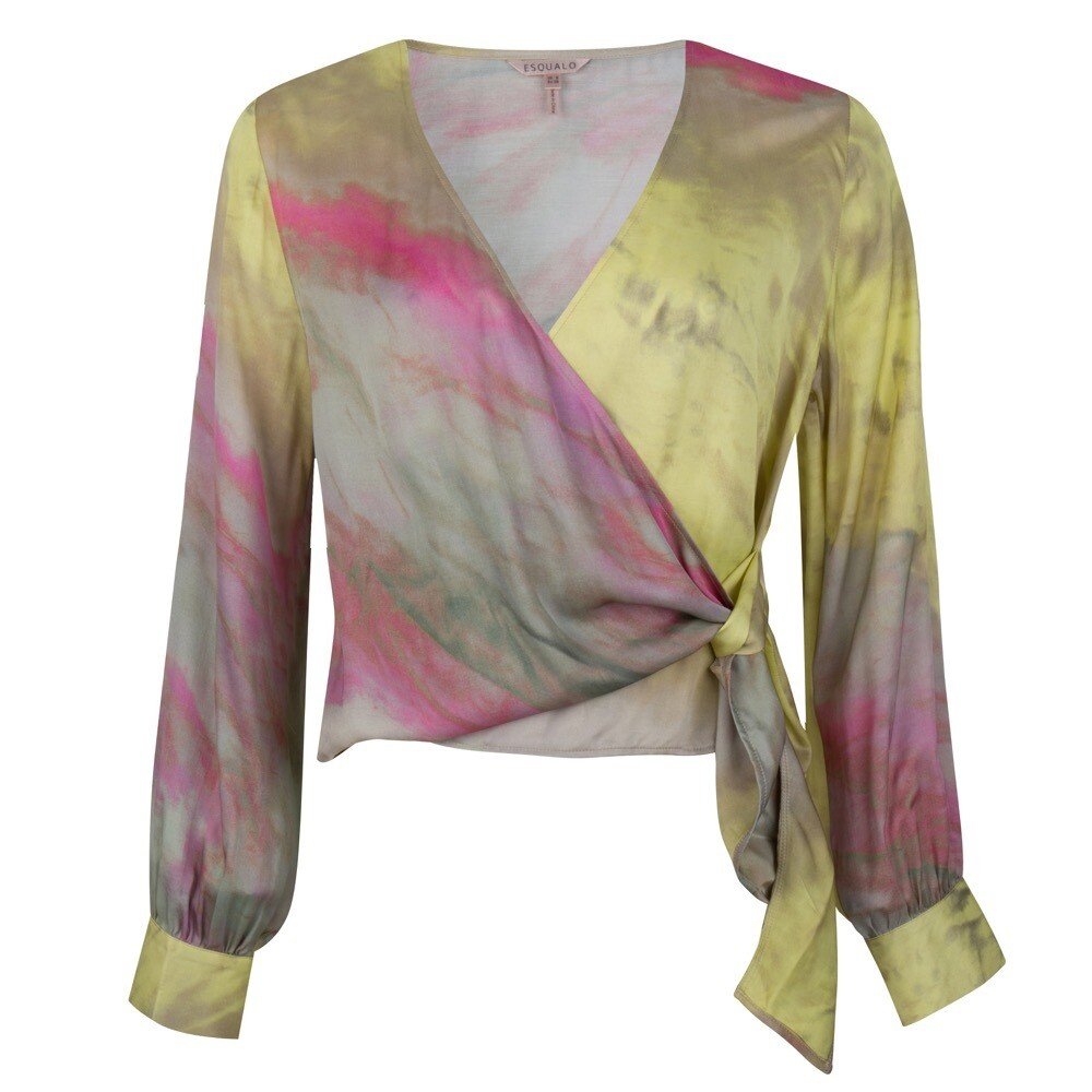 Blouse overlap blurred print
