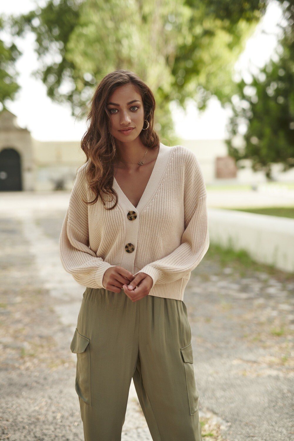 Cardigan V-neck short