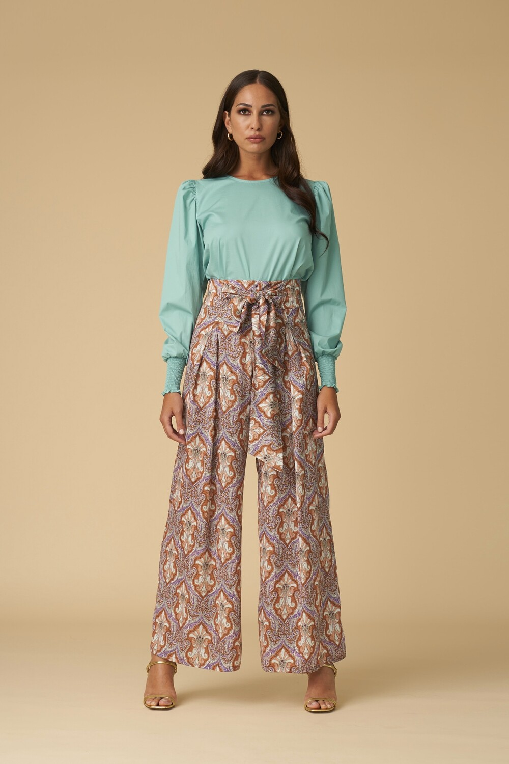 Wide paisley trousers