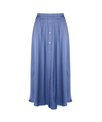 Skirt satin buttoned closure