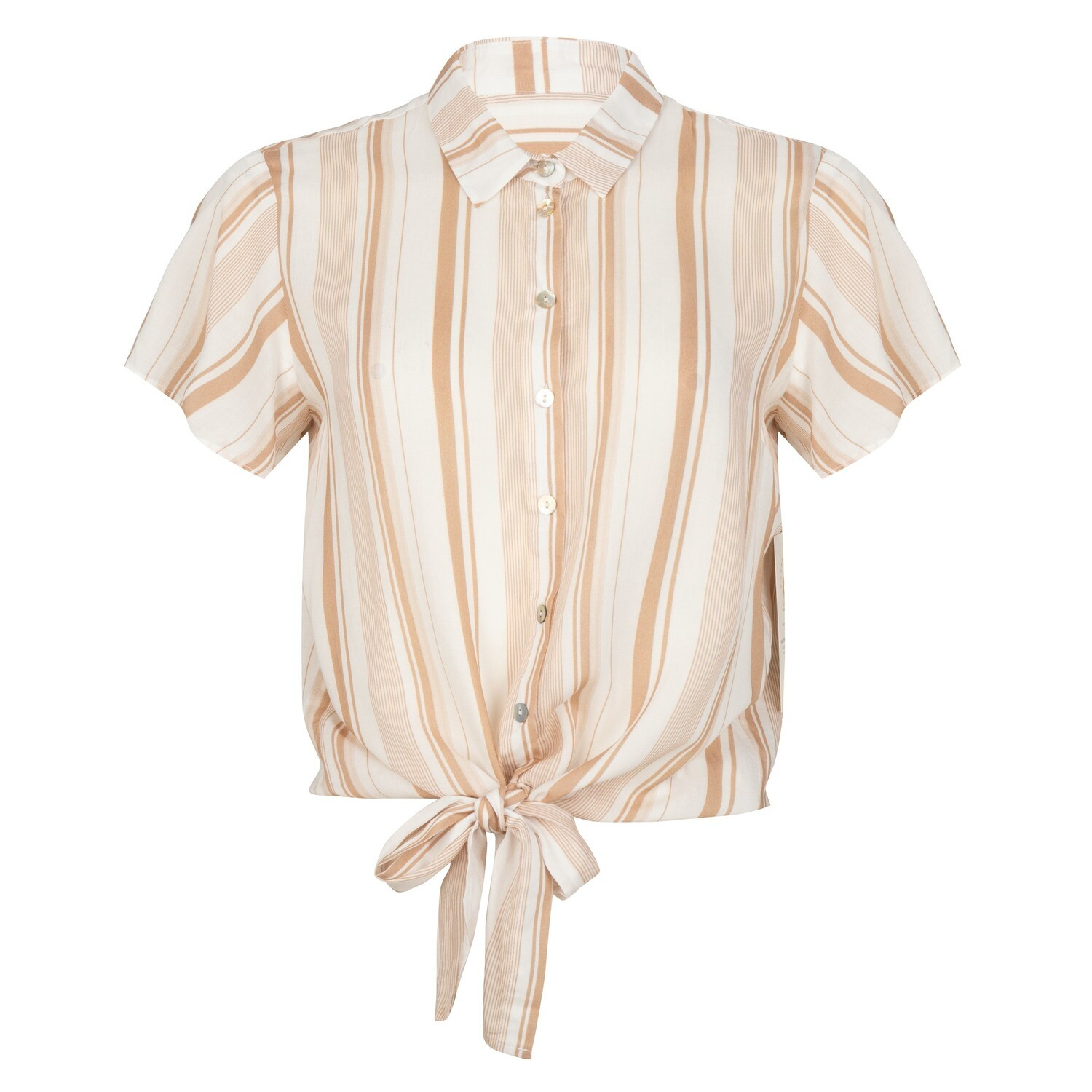 T-shirt striped knot
