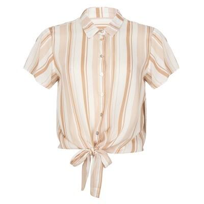 T-shirt striped knot