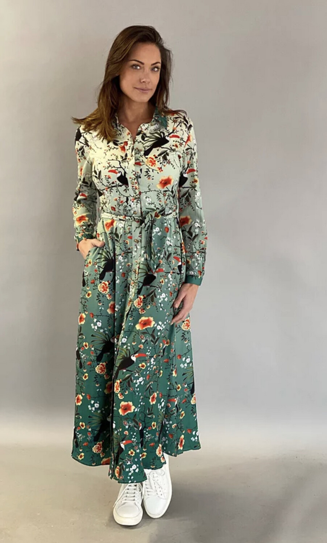 Maxi Dress Small Toekan print
