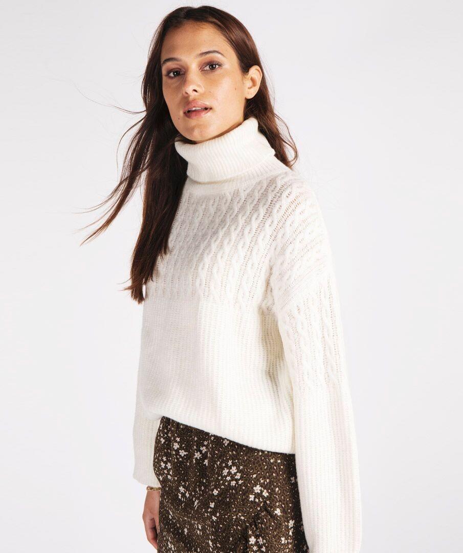 Sweater Col Off-White