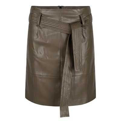 Skirt Belt PU Chocolate