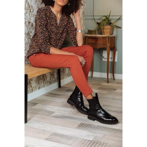 Jeans Alexa Cropped Magic Color - Brique
