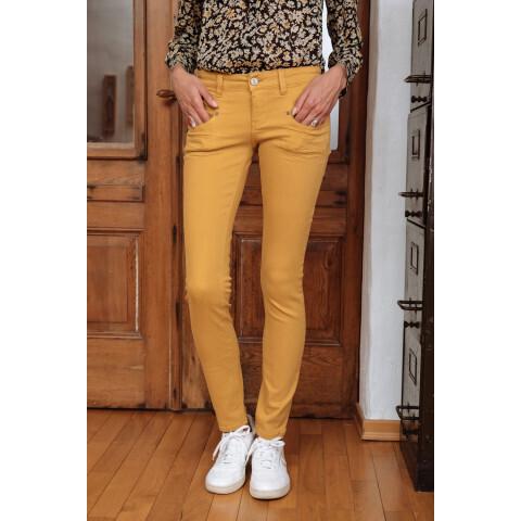 Jeans Alexa Slim Magic Color - Ocre