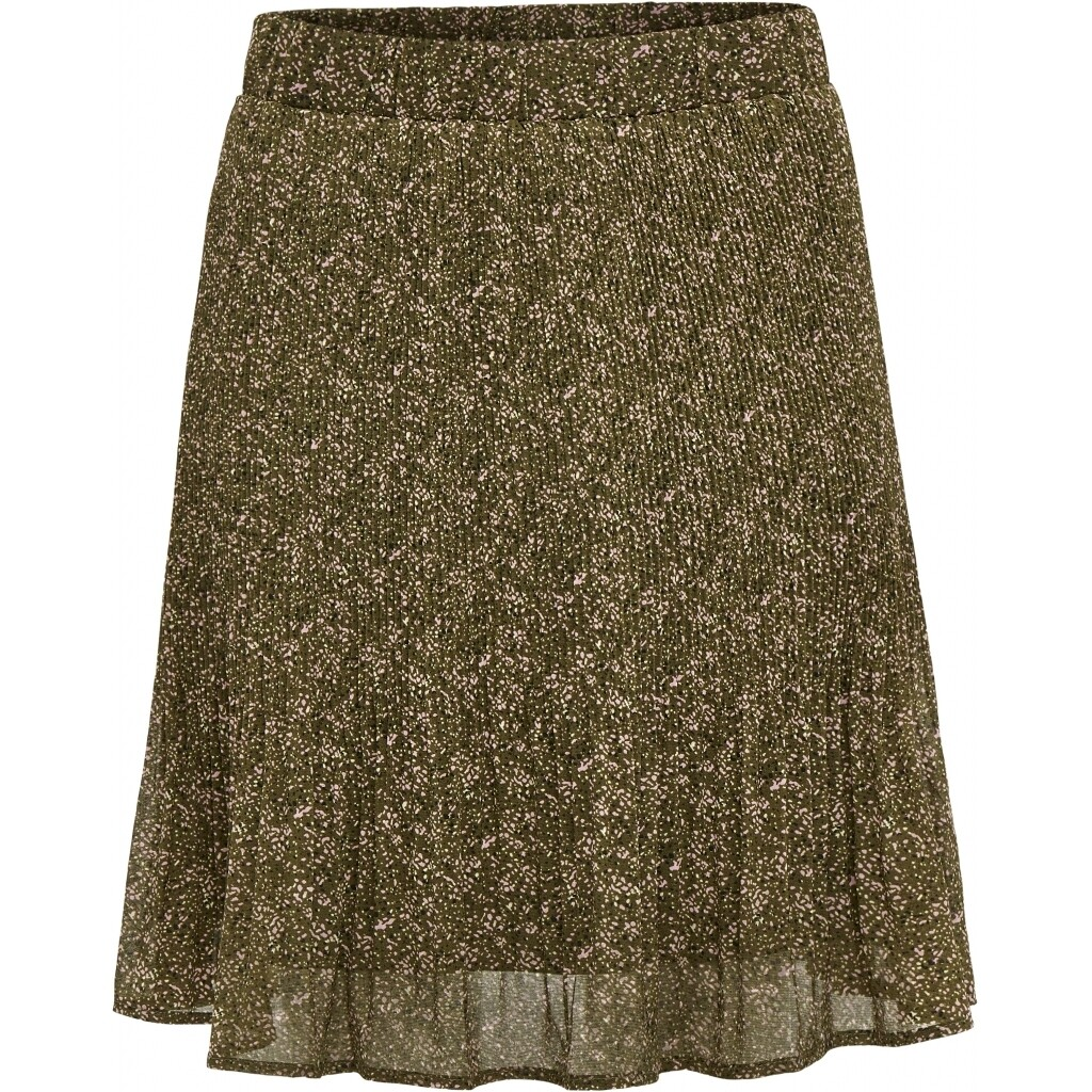 Rikka short skirt - Dark Olive dot print