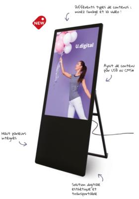 Totem U Digital – L 61x H 150 cm