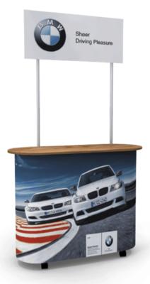 Stand Premium Comptoir – 120x50cm avec Topper