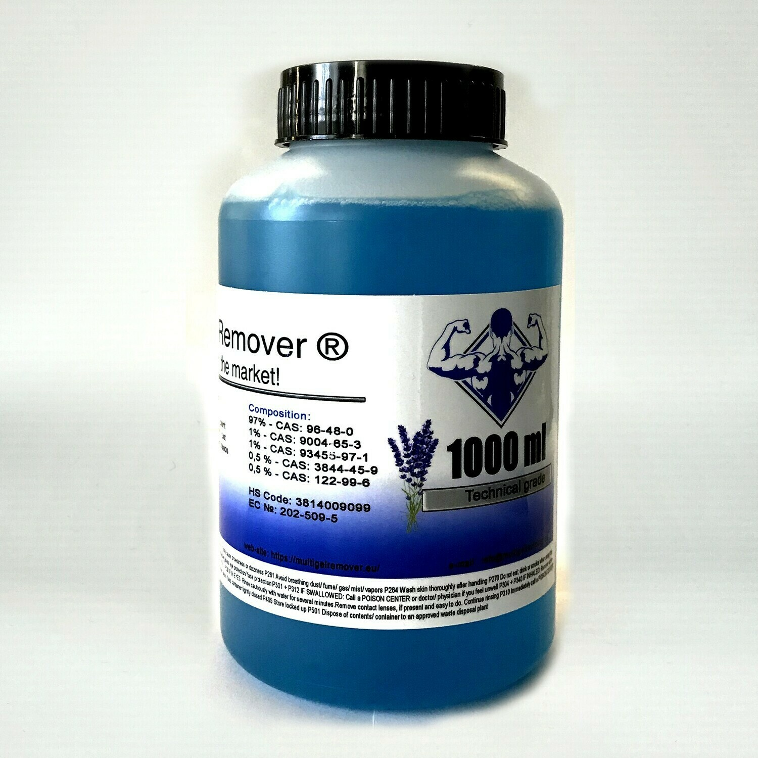 Multi Gel Remover® 1000ml Technical Grade Blue (GEL FORM)
