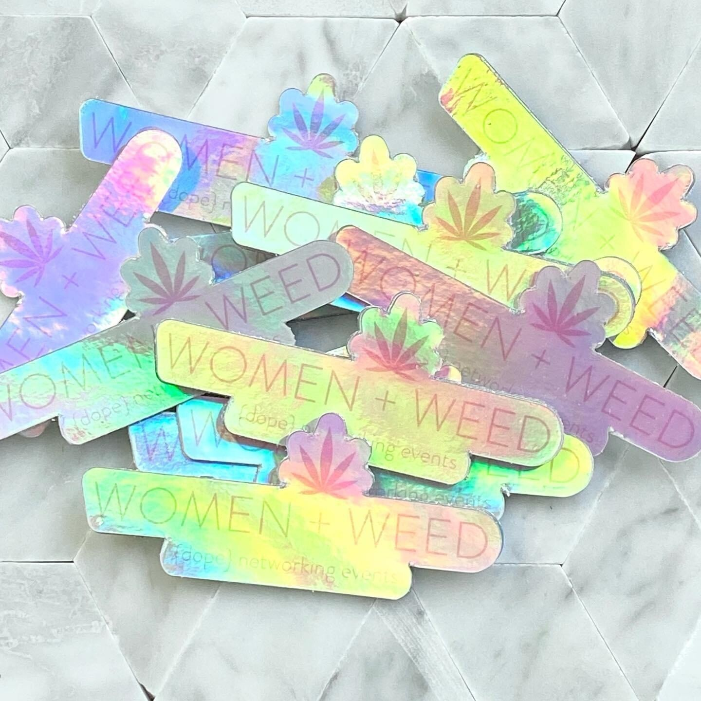 Women + Weed Hologram Stickers