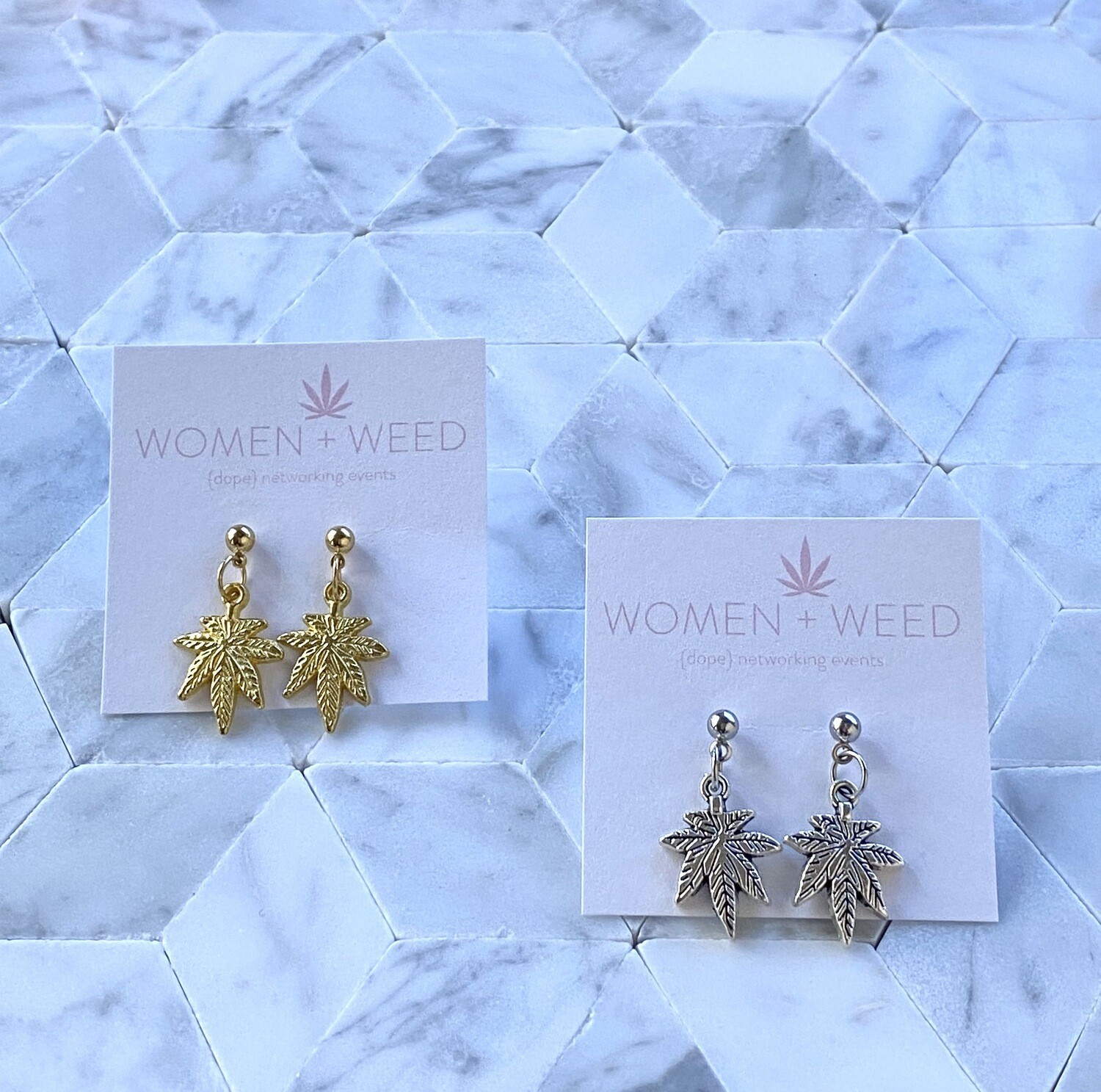 Oh So Simple Cannabis Earrings