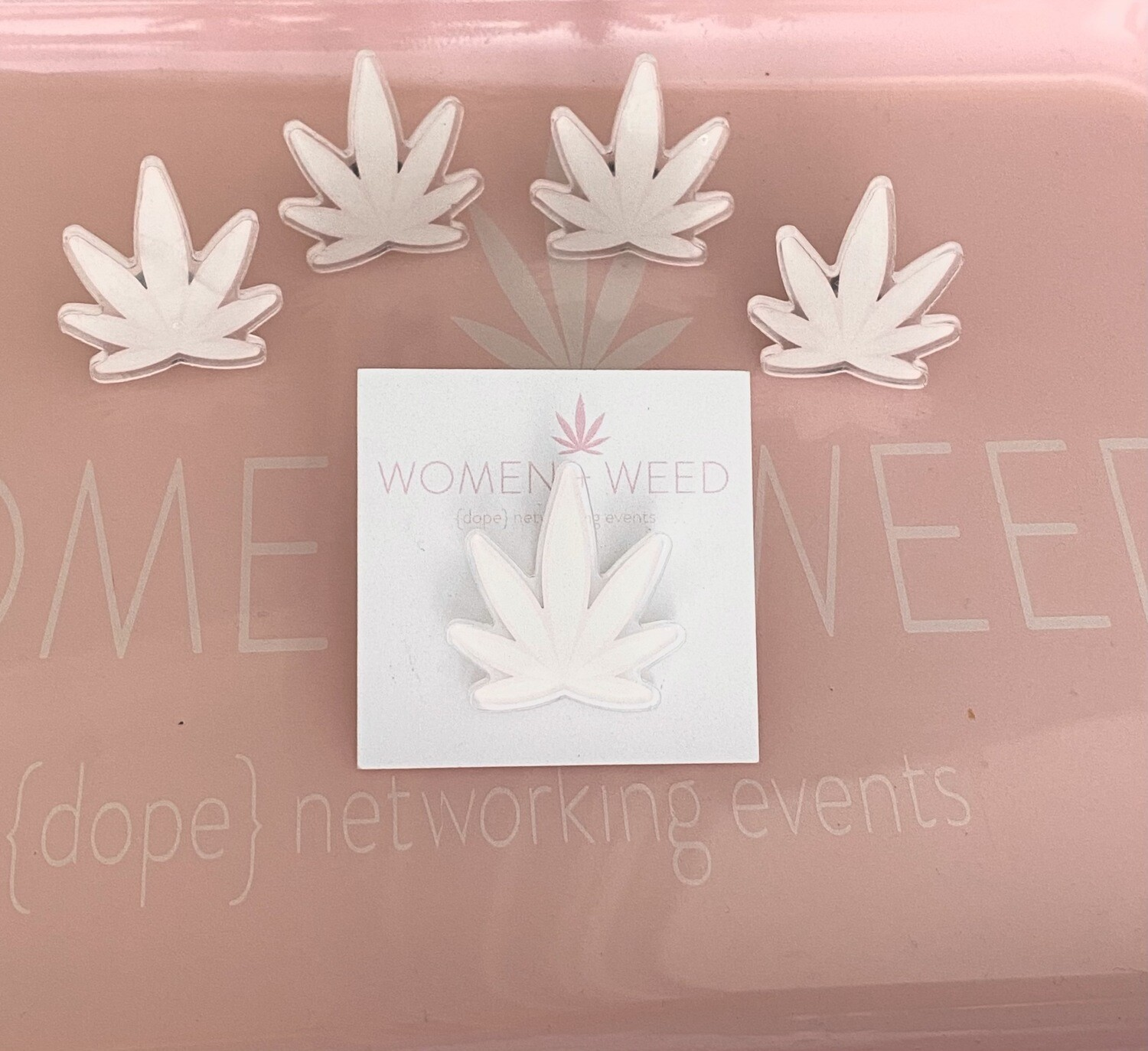 Limited Cute Weed Leaf Pin