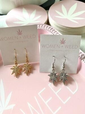 Oh So Simple Dangle Cannabis Earrings