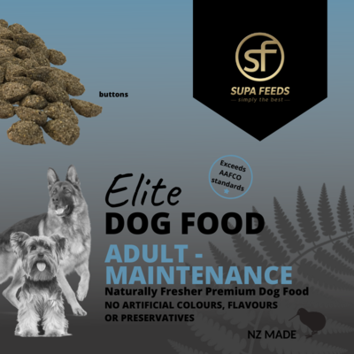Elite Dog Food - Adult Maintenance Buttons