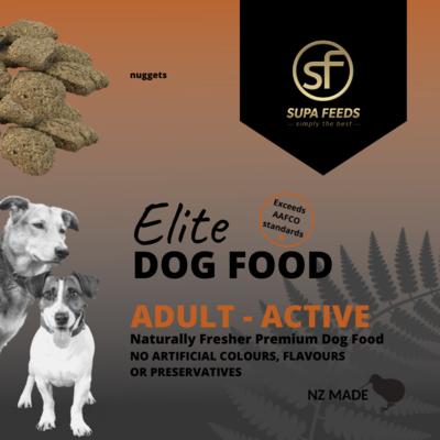 Elite Dog Food - Adult Active Nuggets