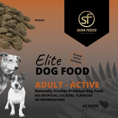 Elite Dog Food - Adult Active Buttons