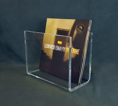 Porta dischi vinili in plexiglass trasparente