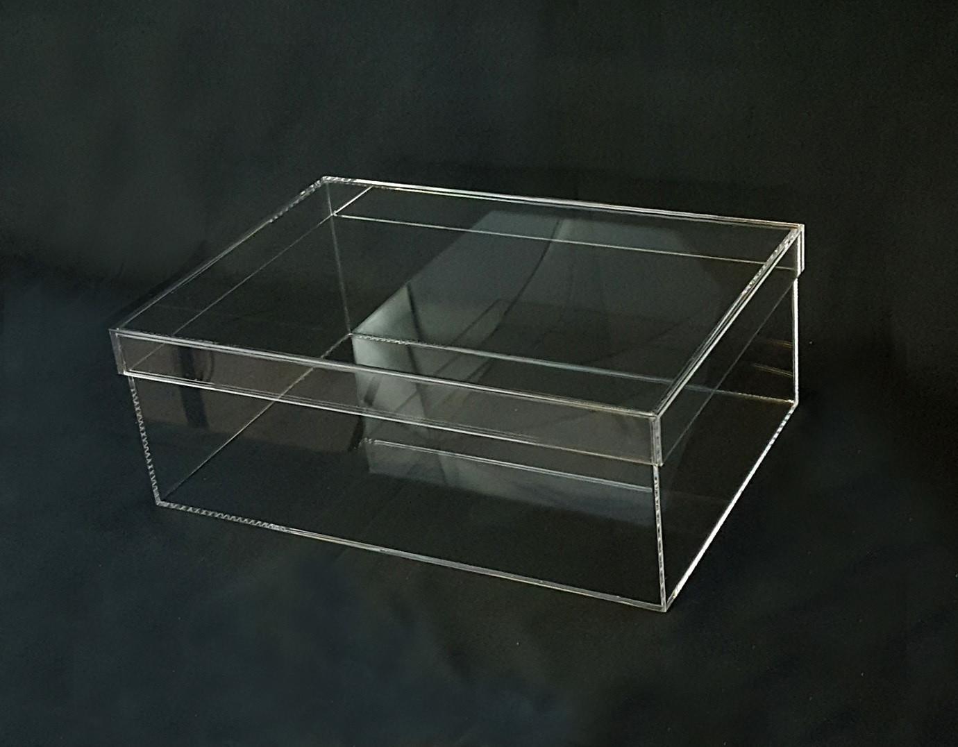 Scatola in PLEXIGLASS trasparente con coperchio