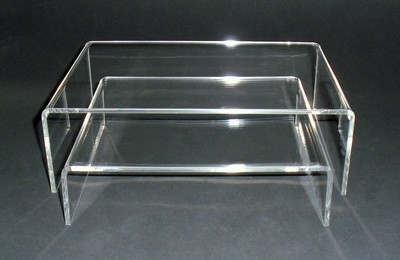 Alzate espositori in plexiglass (coppia)