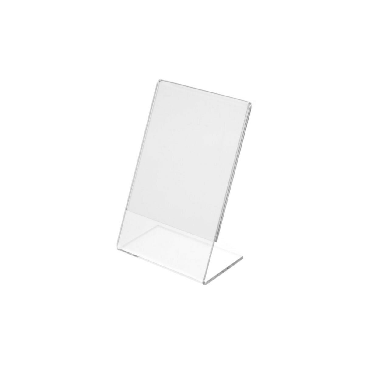 Porta prezzi / porta foto A7 IN PLEXIGLASS cm. L. 11 x H. 17,5 - set da 20 pezzi