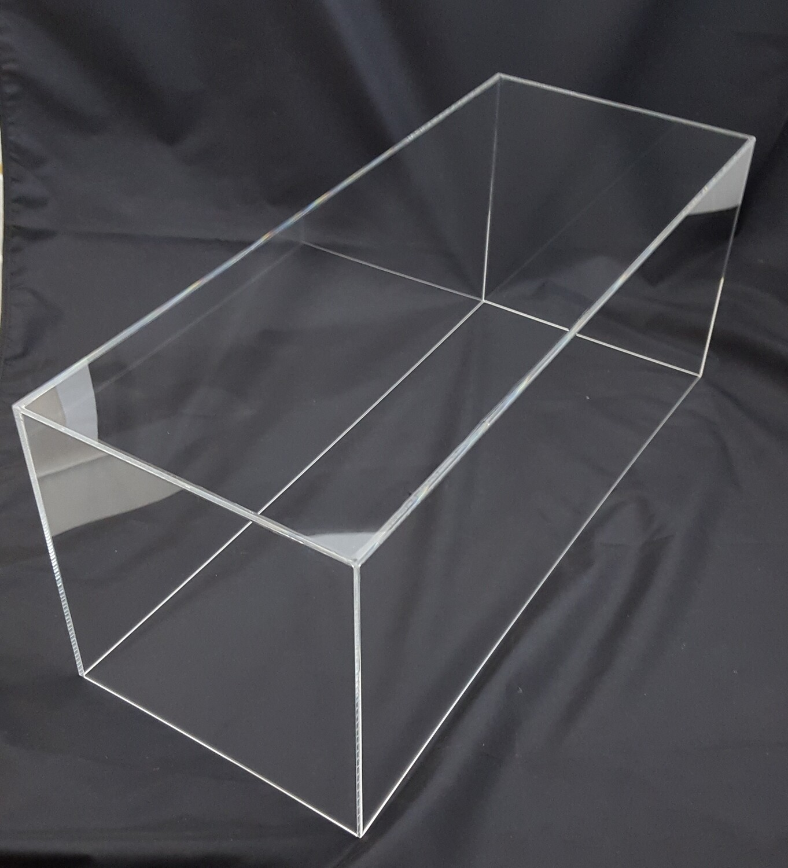 Teca - vetrinetta in plexiglass per modellini. Cm. 80 x 25 x H. 33,5