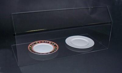 Parasputi - parafiato - per protezione alimenti - HACCP CM. L. 50 X h. 30. In plexiglass