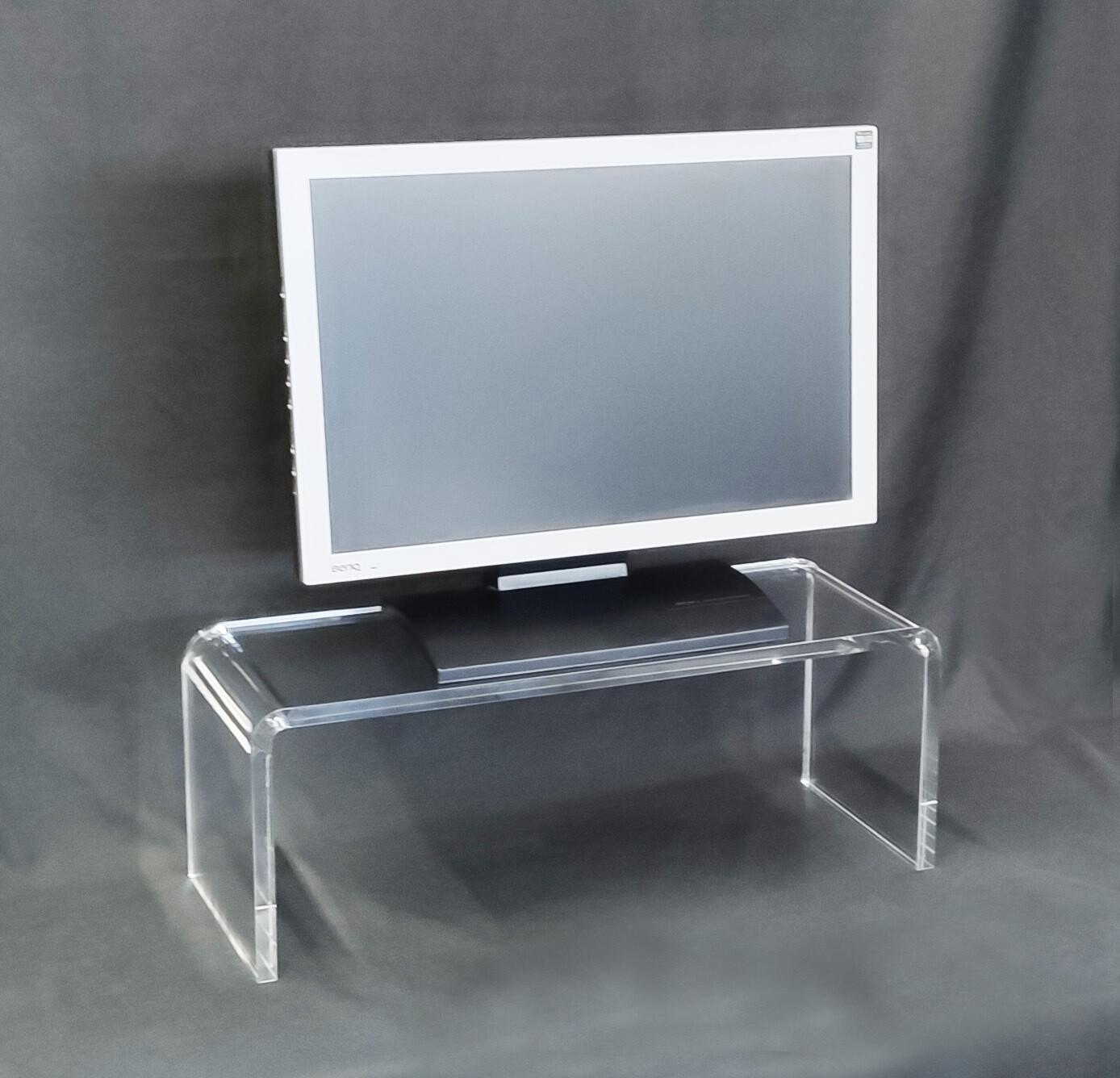 Tavolino- supporto TV monitor in plexiglass trasparente