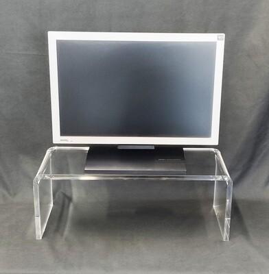 Tavolino- supporto TV - monitor in plexiglass trasparente cm. 54,5x22,5xH. 20,5