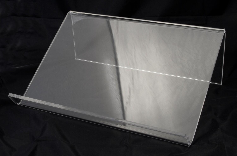 Leggìo in plexiglass trasparente da tavolo