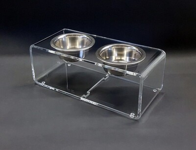 Ciotola mangiatoia per cane in plexiglass trasparente - design - esclusiva