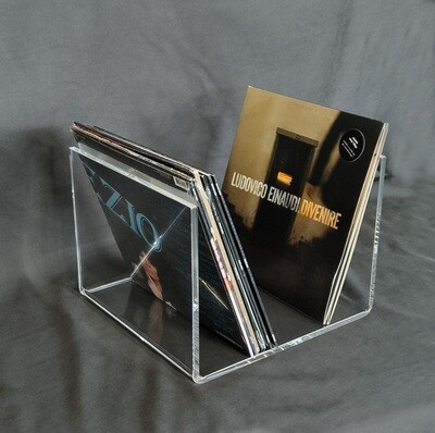 Porta dischi vinili in plexiglass trasparente versione XL