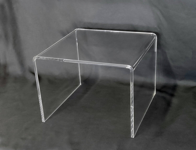 Tavolino - alzata a ponte in plexiglass trasparente cm. 35x33xH. 26,5