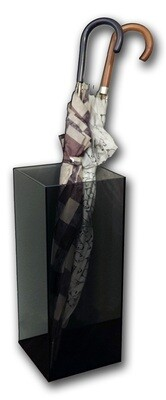Portaombrelli in plexiglass fumé grigio 21x21xH. 50,5