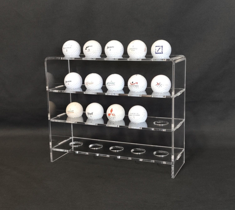 Bacheca espositore in plexiglass per palline da golf