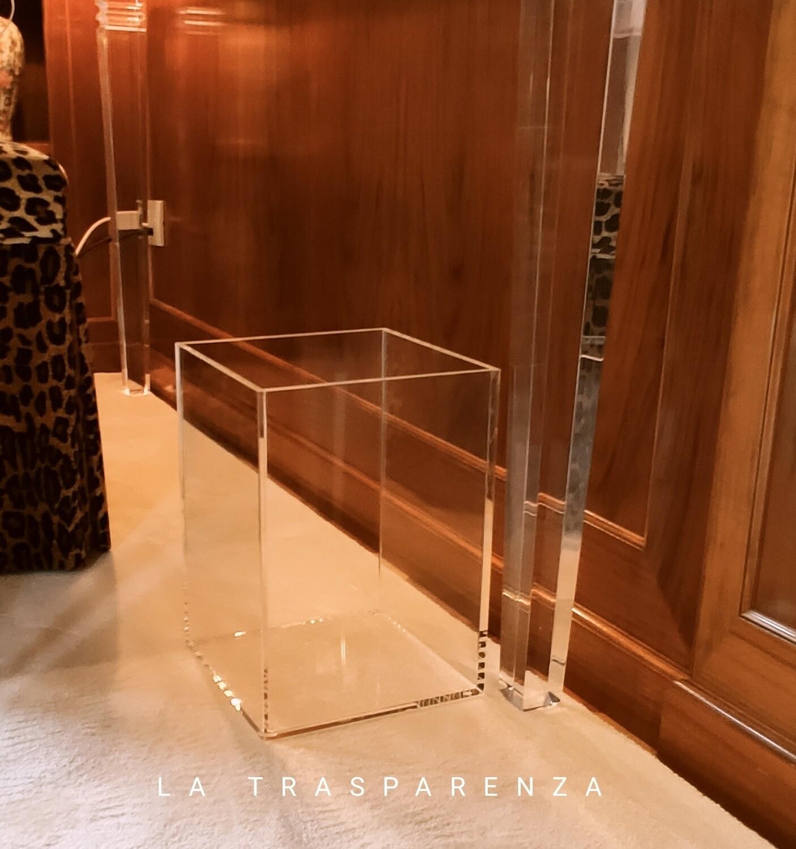 Gettacarte - cestino in plexiglass trasparente