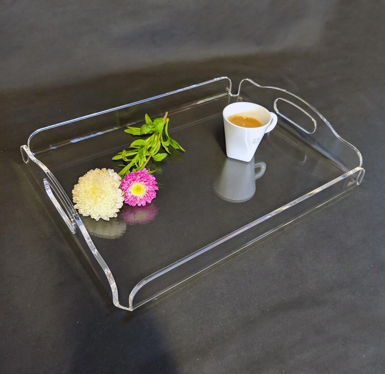 Vassoio in plexiglass trasparente cm. 36 x 27 x H. 6